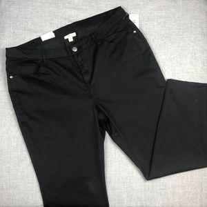 Style & Co Black Ultra Skinny Leg Pants Size 18W